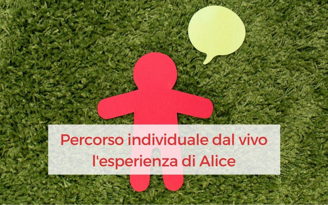 Percorso individuale dal vivo – l'esperienza di Alice